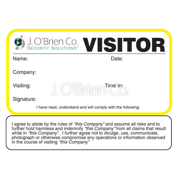 Threshold Sign In-Out Log Book Company 782 - J  O'Brien