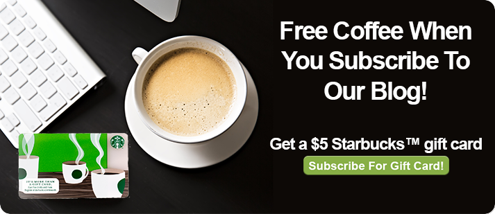 Free Coffee When You Subscribe to Our Blog!